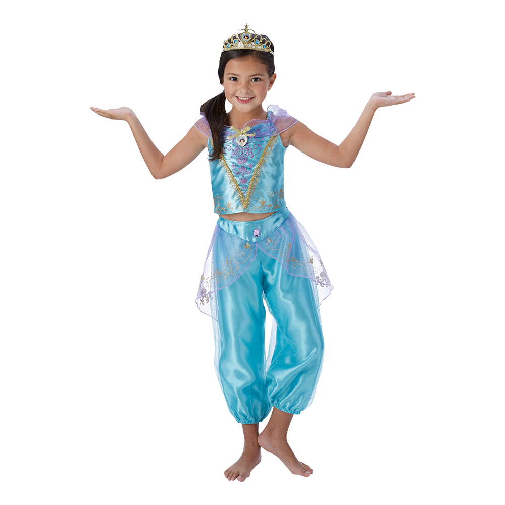 prinsesse jasmin kostume til børn aladdin kostume 1001 nat kostume til børn arabisk kostume til børn blåt kostume børnekostume udklædning til fastelavn