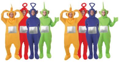 teletubbies dipsy kostume til voksne teletubbies kostume til voksne teletubies grøn udklædning polterabend rusfest sidste skoledag karnevalskostume gruppe kostume 390x205 - Teletubbies kostume til voksne
