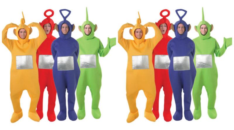 teletubbies dipsy kostume til voksne teletubbies kostume til voksne teletubies grøn udklædning polterabend rusfest sidste skoledag karnevalskostume gruppe kostume 800x445 - Teletubbies kostume til voksne