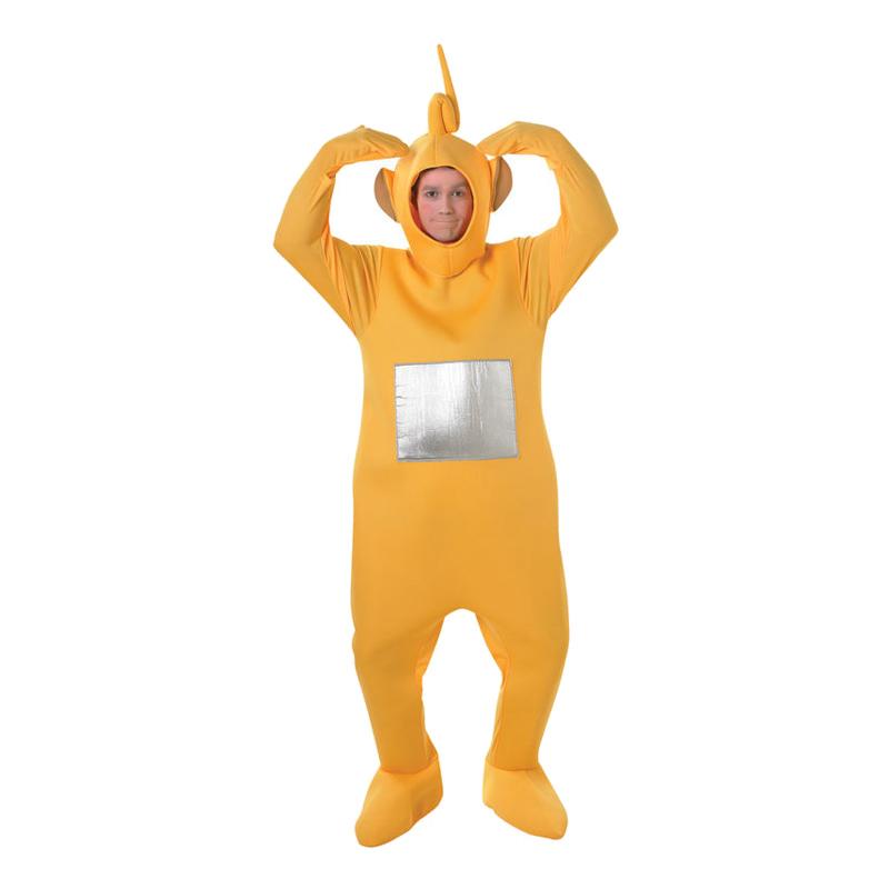 teletubbies laa laa kostume til voksne sidste skoledag kostume teletubies kostume til voksne gul teletubie lala teletubbies
