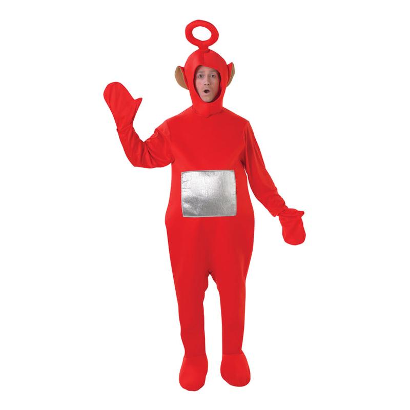 teletubbies poh kostume til voksne teletubies kostume til voksne po rød teletubbies udklædning sidste skoledag rusfest polterabend karnevalskostume
