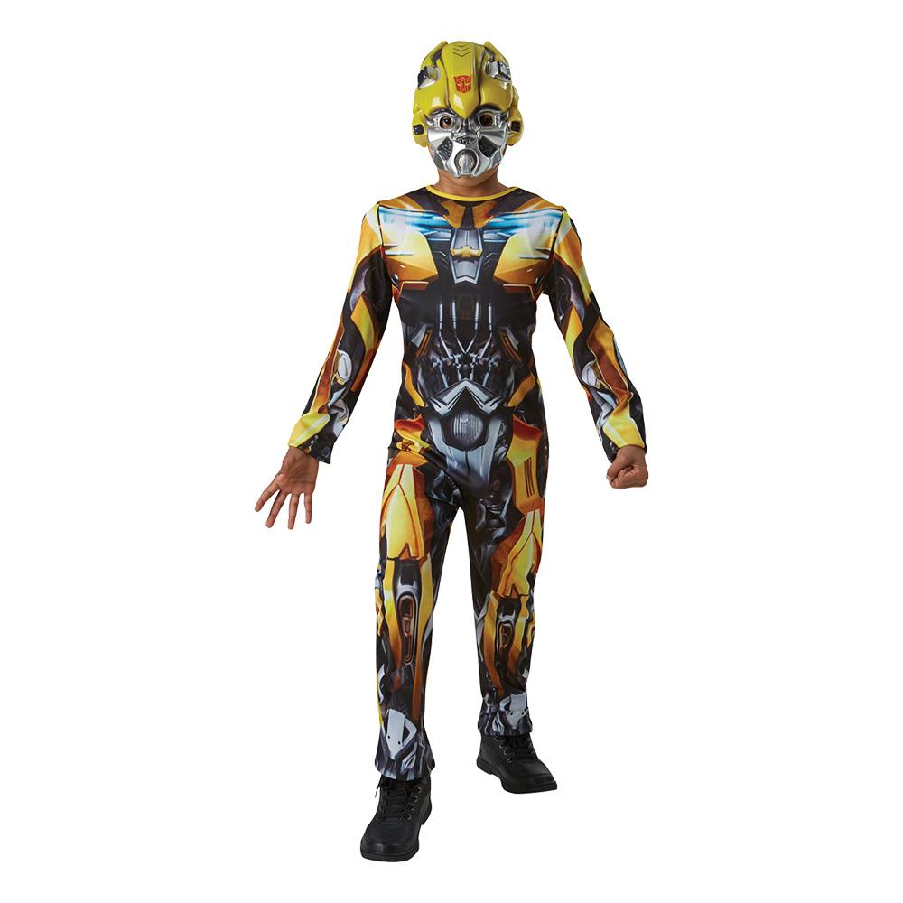 transformers the last knight bumblebee børnekostume transformers kostume til børn gult transformers udklædning fastelavnskostume til børn fastelavn børnekostume 2019