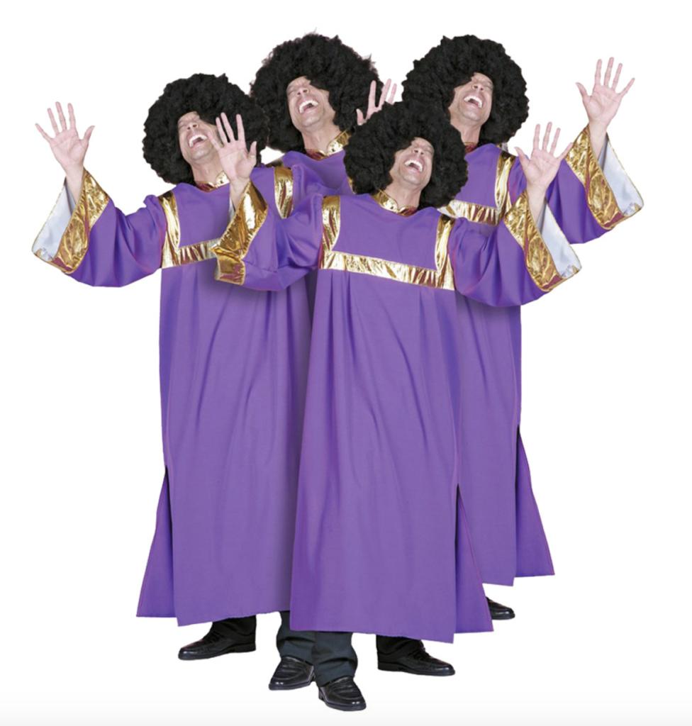 Gospel kostume til voksne 976x1024 - Gruppe kostumer til voksne