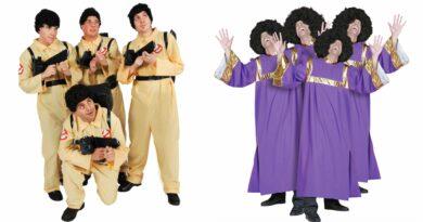 Gruppe kostumer 390x205 - Gruppe kostumer til voksne
