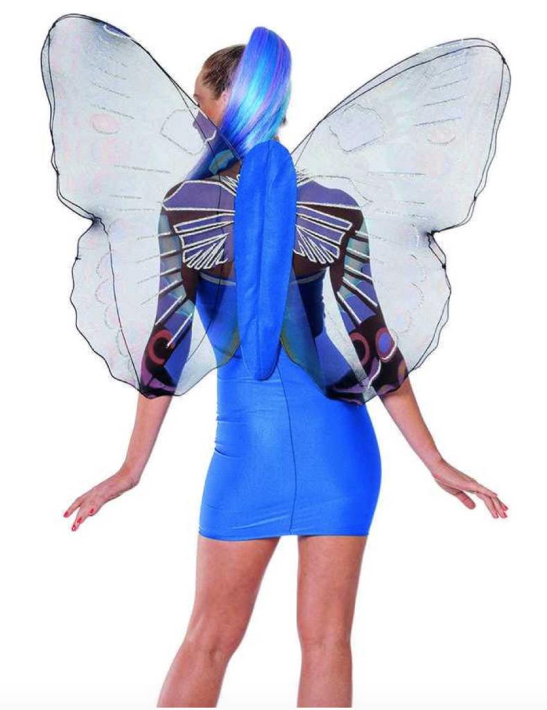 blå sommerfuglevinger til voksne sommerfugl kostume til voksne 789x1024 - Sommerfugl kostume til voksne
