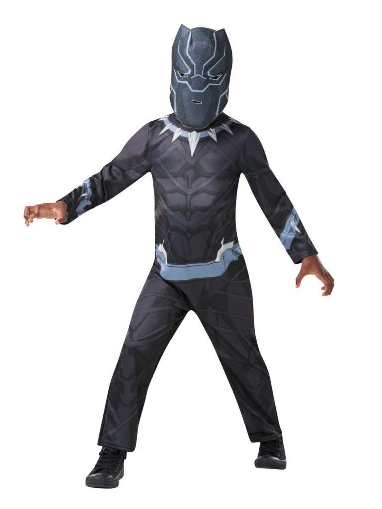 black panther kostume til børn black panther børnekostume black panther udklædning superhelte kostume til dreng Sorte panter kostume sort kostume til børn Tchalla