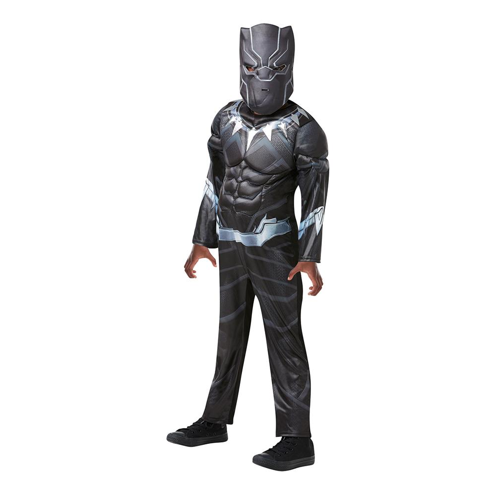 black panther kostume til børn black panther børnekostume black panther udklædning superhelte kostume til dreng Sorte panter kostume sort kostume til børn