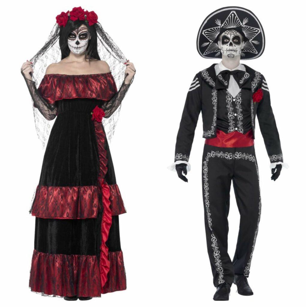 dødens brud og gom par kostume til voksne 1021x1024 - Par kostumer til voksne