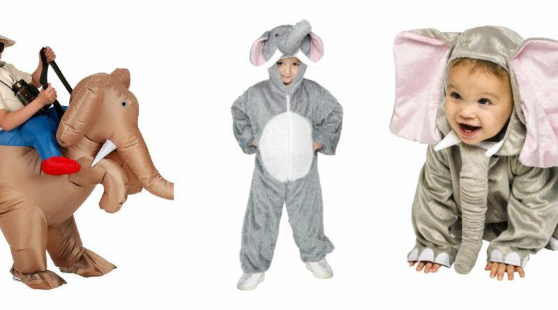 elefant kostume til børn elefant børnekostume elefant plys heldragt kostume elefant udklædning til børn elefant fastelavnskostume elefant fastelavnstøj savannedyr kostume oppusteligt kostume