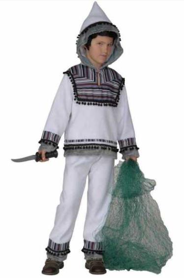 eskimo kostume til børn eskimo hvid drenge kostume eskimo børnekostume eskimo udklædning til børn fastelavnskostume til drenge arktisk kostume til børn
