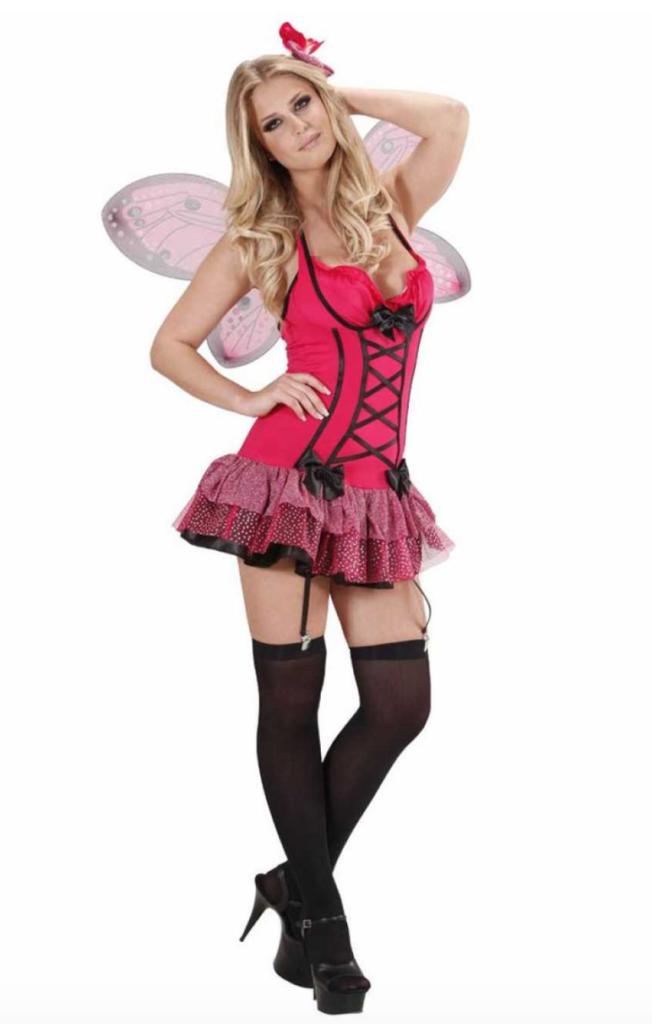 hot pink sommerfugl kostume til voksne 652x1024 - Sommerfugl kostume til voksne