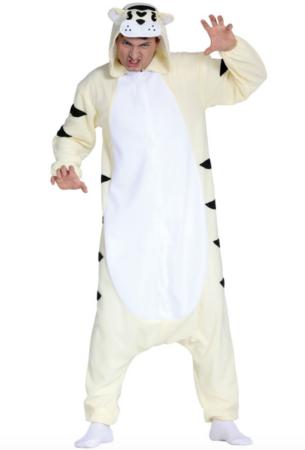 hvid tiger kostume 305x450 - Tiger kostume til voksne