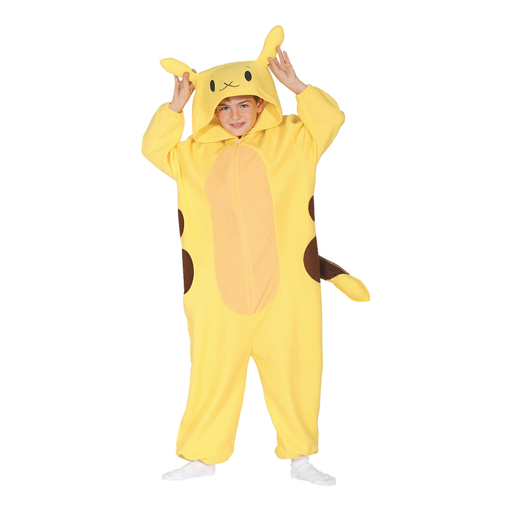pikachu kostume til børn picachu kostume til børn picachu børnekostume pikachu børnekostume pikachu fastelavnskostume med maske gult kostume chincilla kostume