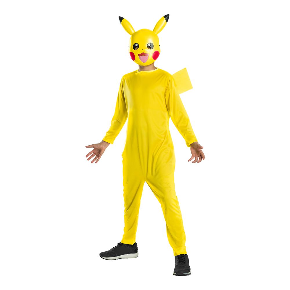 pikachu kostume til børn picachu kostume til børn picachu børnekostume pikachu børnekostume pikachu fastelavnskostume med maske gult kostume