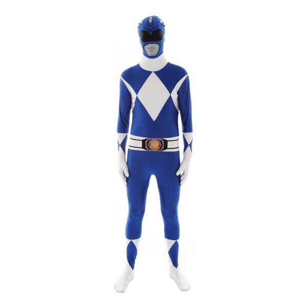 power ranger kostume til voksne power rangers kostume til voksne heldragt udklædning power rangers morphsuit blå power ranger go go power