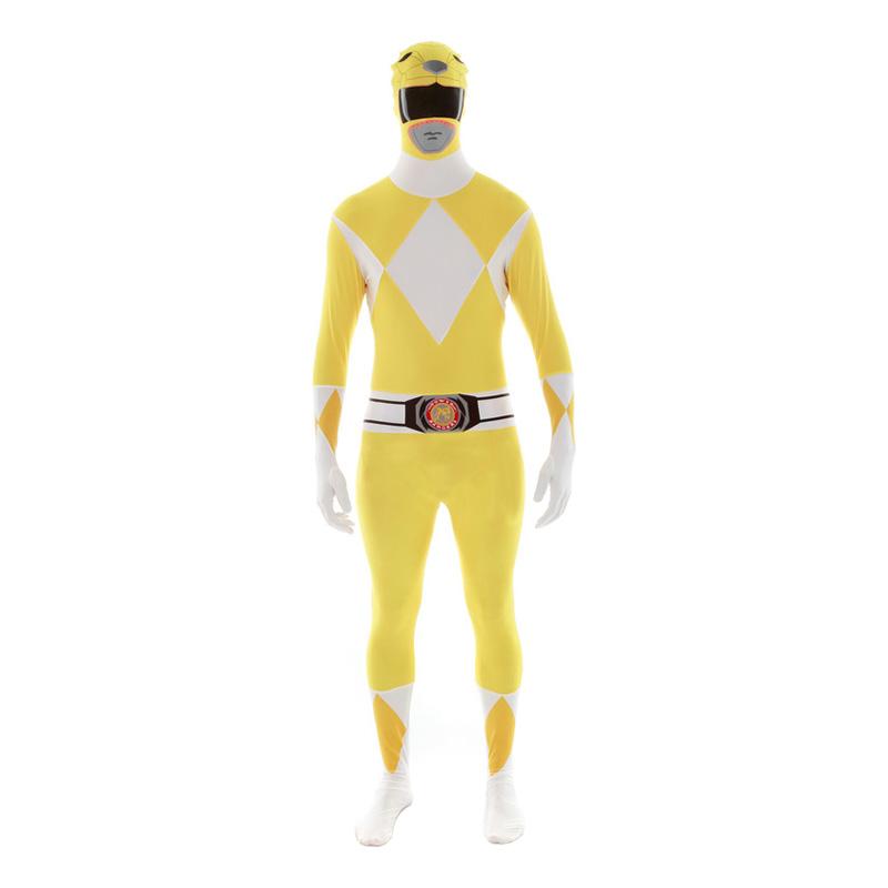 power ranger kostume til voksne power rangers kostume til voksne heldragt udklædning power rangers morphsuit gul power ranger