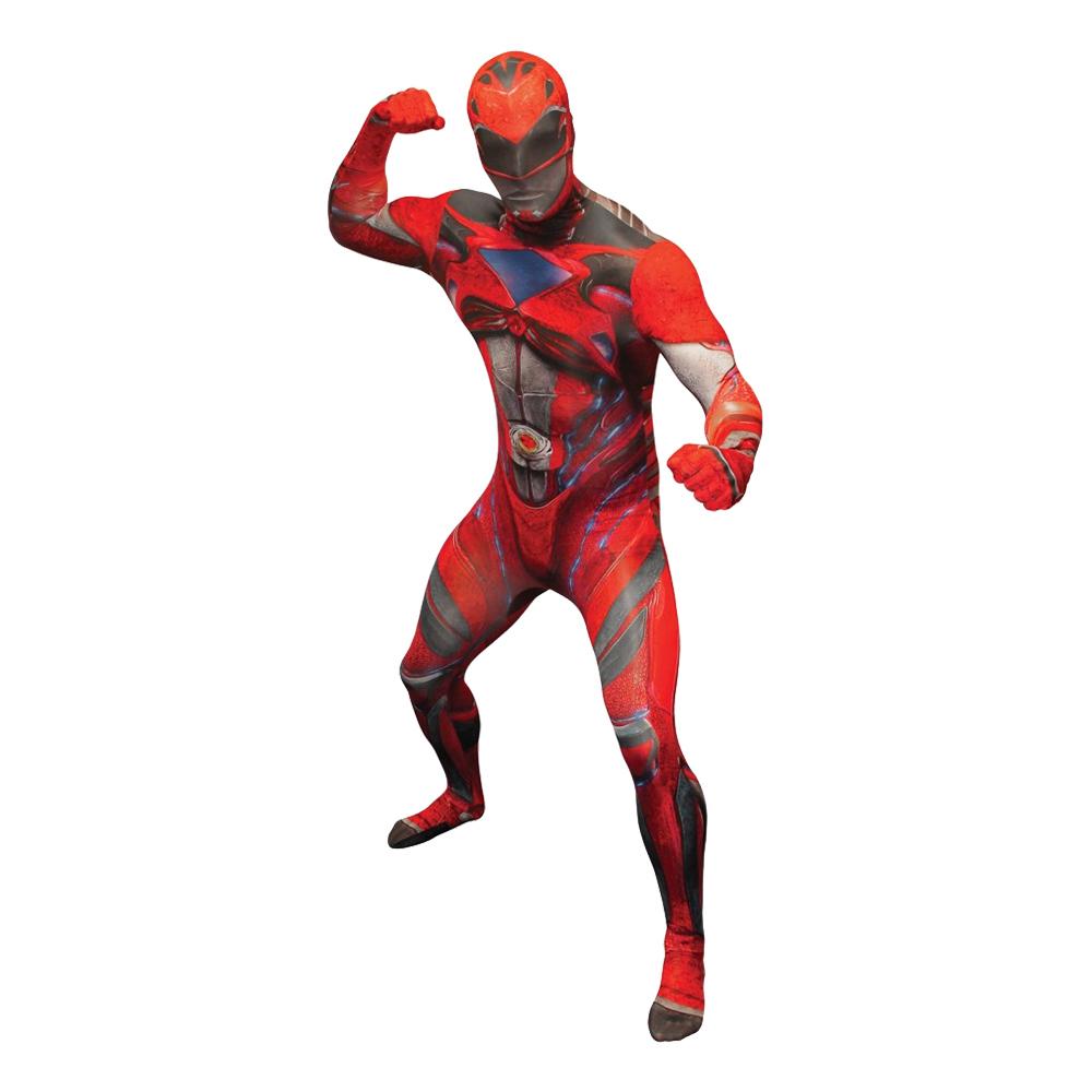 power ranger kostume til voksne power rangers kostume til voksne heldragt udklædning power rangers morphsuit rød power ranger