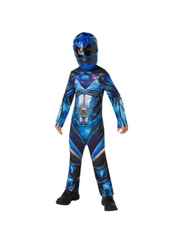 power rangers kostume blå power ranger kostume blå power ranger udklædning power rangers børnekostume blå power ranger fastelavnstøj superhelte kostume til børn