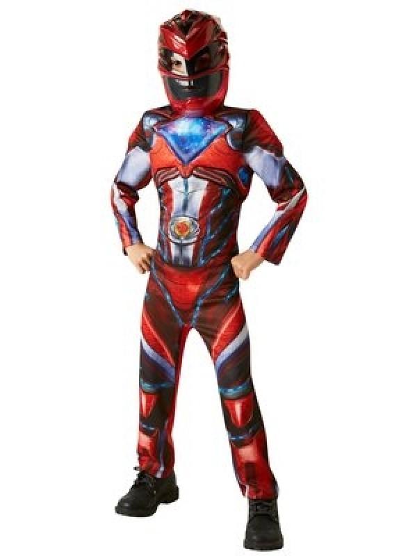 power rangers kostume rød power ranger kostume rød power ranger udklædning power rangers børnekostume rød power ranger fastelavnstøj superhelte kostume til børn.