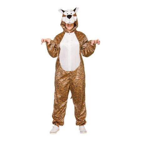 tiger jumpsuit kostume 450x450 - Tiger kostume til voksne
