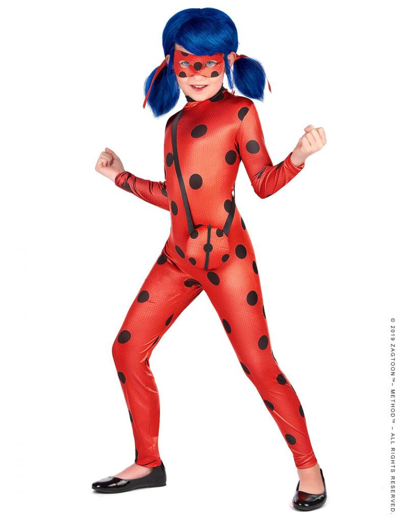 ladybug kostume til børn miraculous ladybug kostume til børn superhelt kostume til piger rødt kostume til piger fastelavnskostume