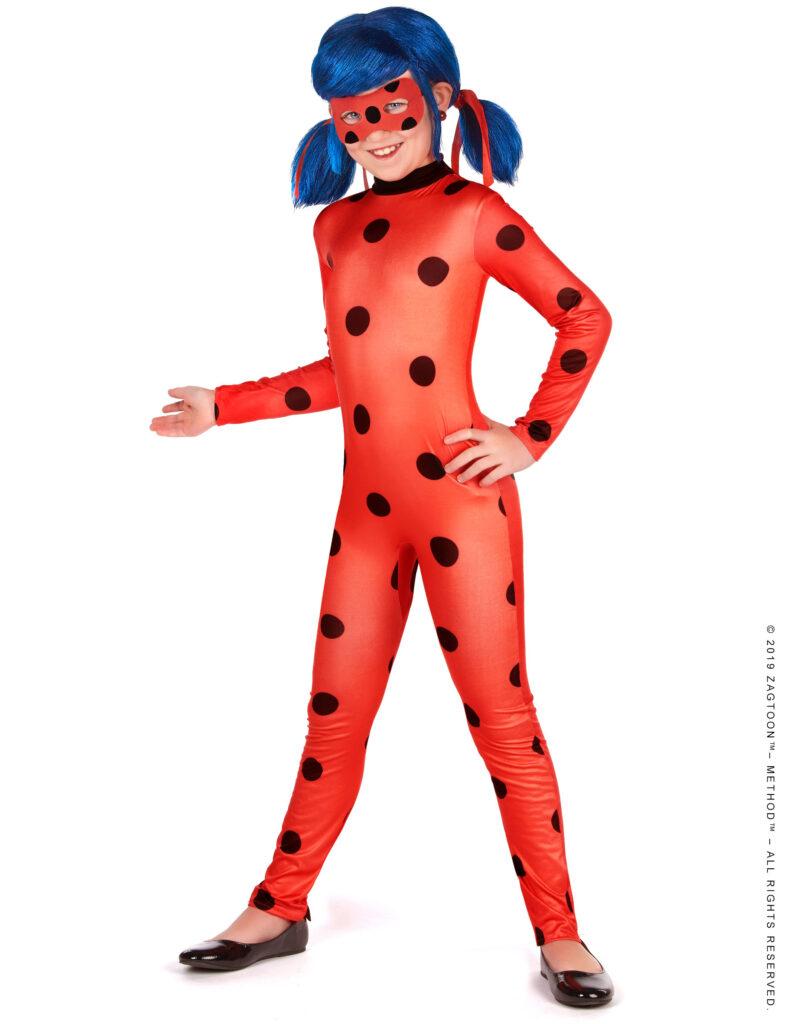 ladybug kostume til børn miraculous ladybug kostume til børn superhelt kostume til piger rødt kostume til piger fastelavnskostume til piger