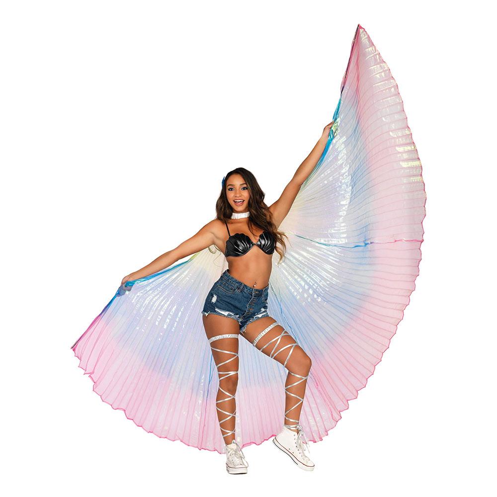 regnbue vinger karnevalskostume kostume til karneval vinger i regnbuefarver gigantiske regnbuevinger
