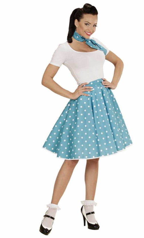 1950erne kjole turkis kostume 1950erne temafest