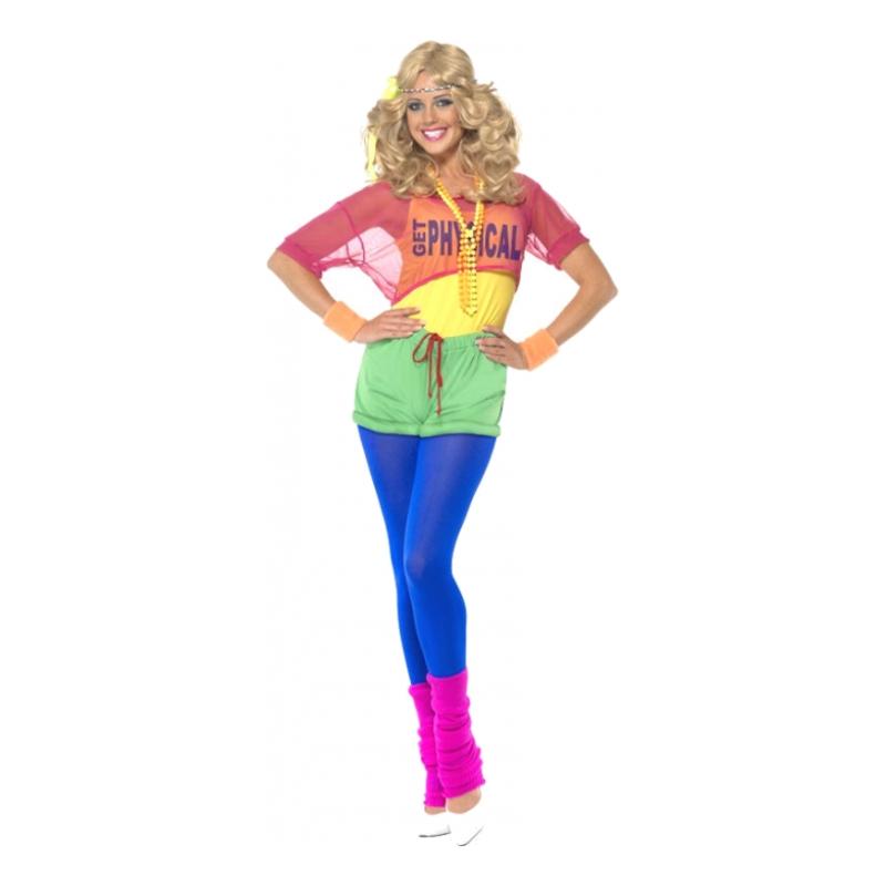 80er tøj 80er kostume til 80er fest 80er kostume til kvinder benvarmere farverigt tøj