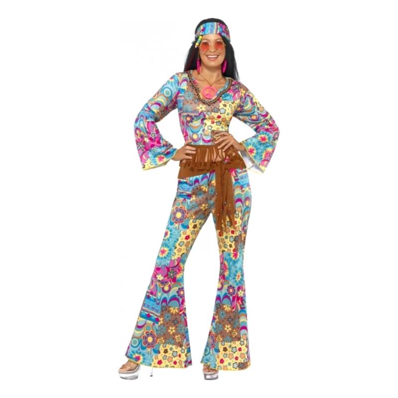 flower power kostume til kvinder - Hippie kostume til kvinder
