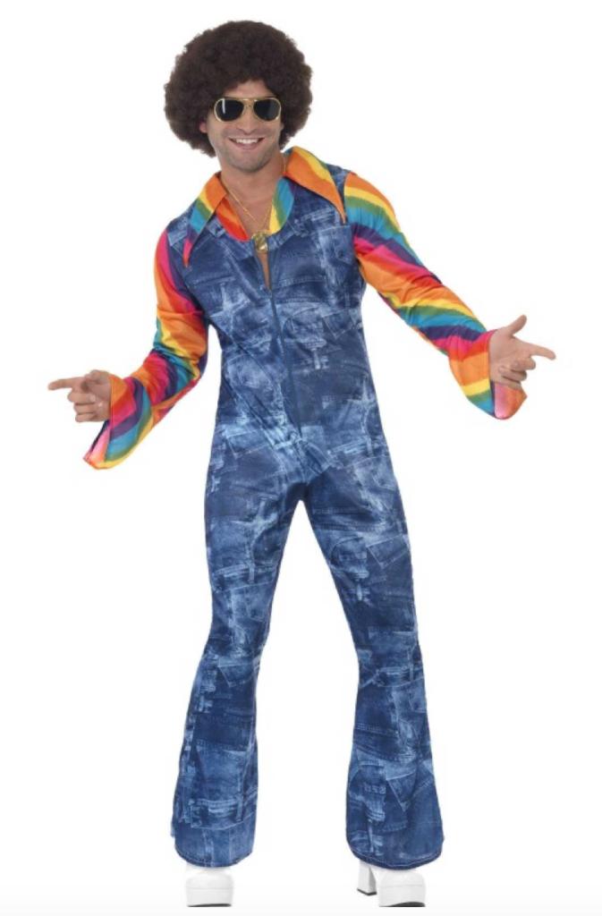 mandligt regnbue hippie kostume til voksne 673x1024 - Regnbue kostume til voksne