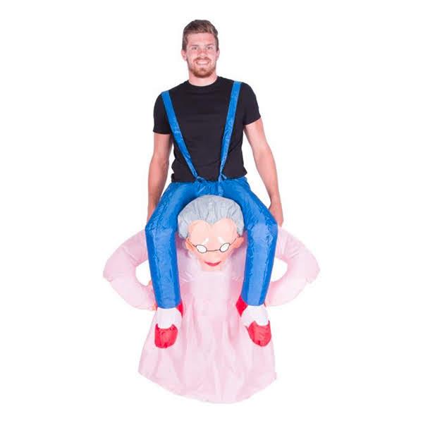 ride on granny kostume til voksne spilkostume sidste skoledag kostume