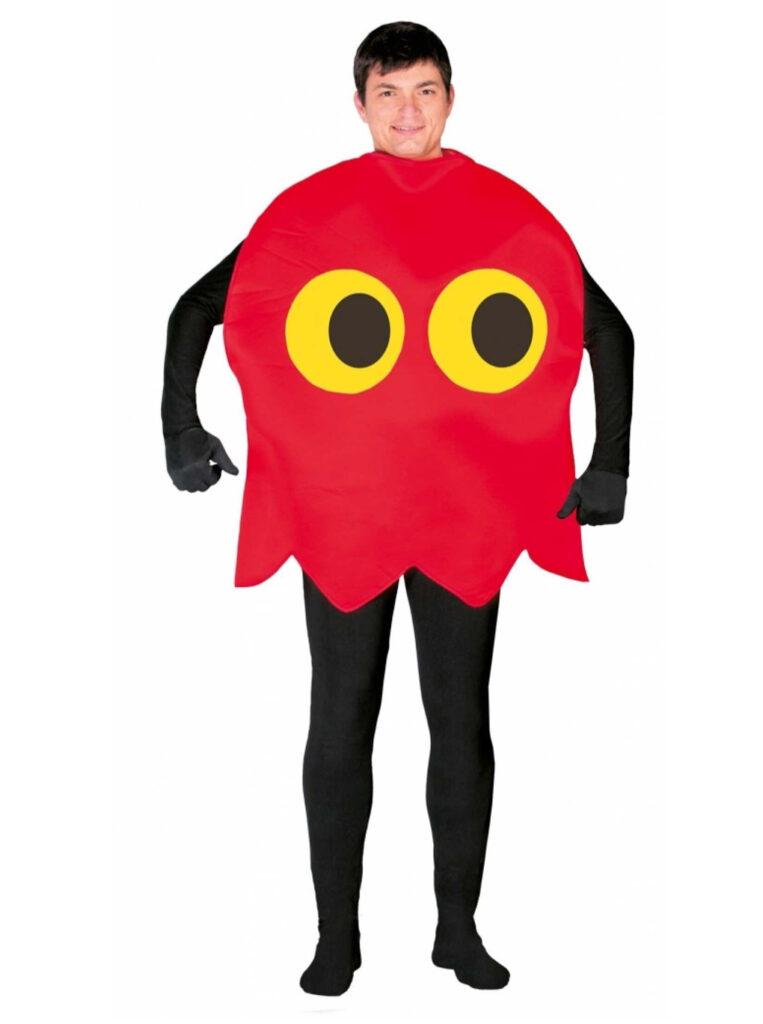 Pacman kostume til voksne spøgelse pacman udklædning 80'er fest kostume