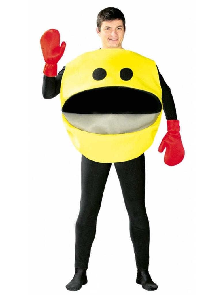 pacman kostume til voksne pacman ost kostume 80'er kostume