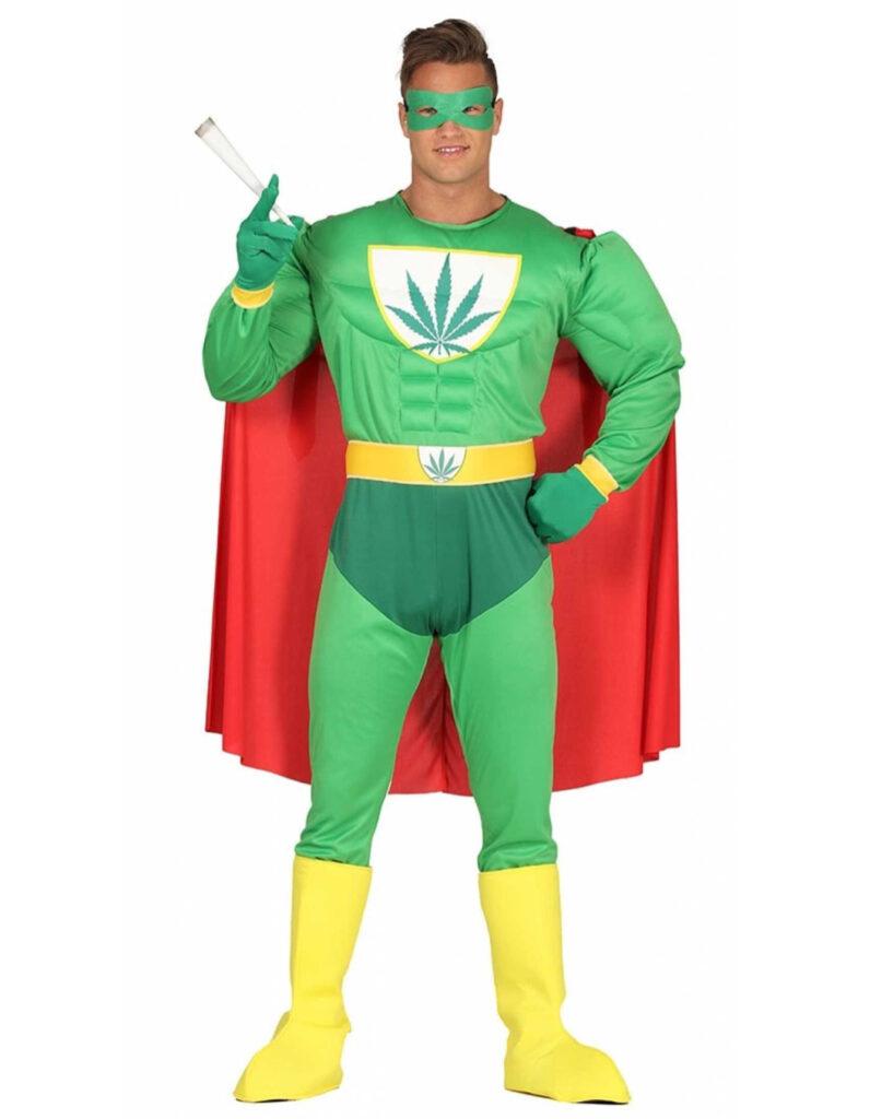 marijuana hash superhelt kostume til voksne