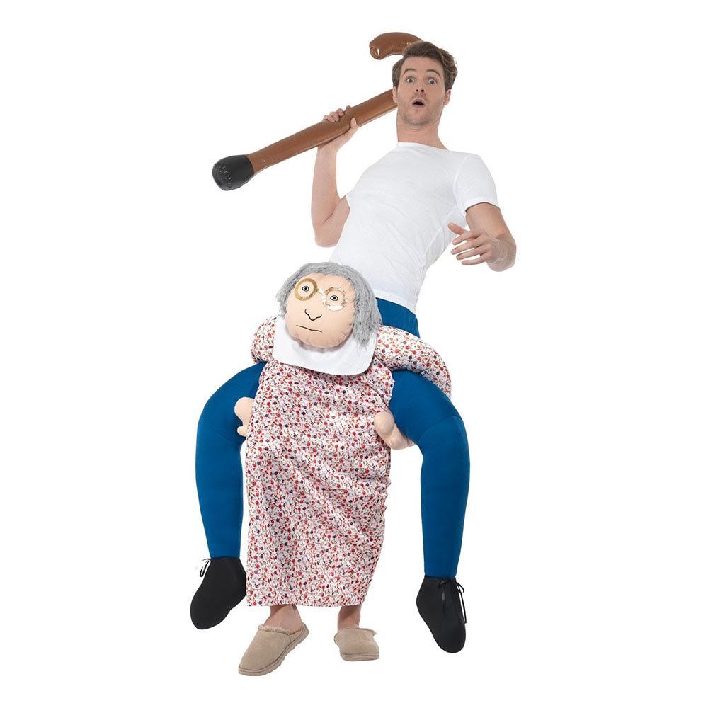 carry med granny kostume bedstemor kostume ride on bedstemor kostume granny kostume
