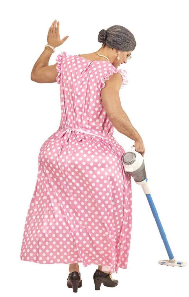 overvægtig bedstemor kraftig bedstemor kostume til mænd dragqueen kostume bedstemor farmor