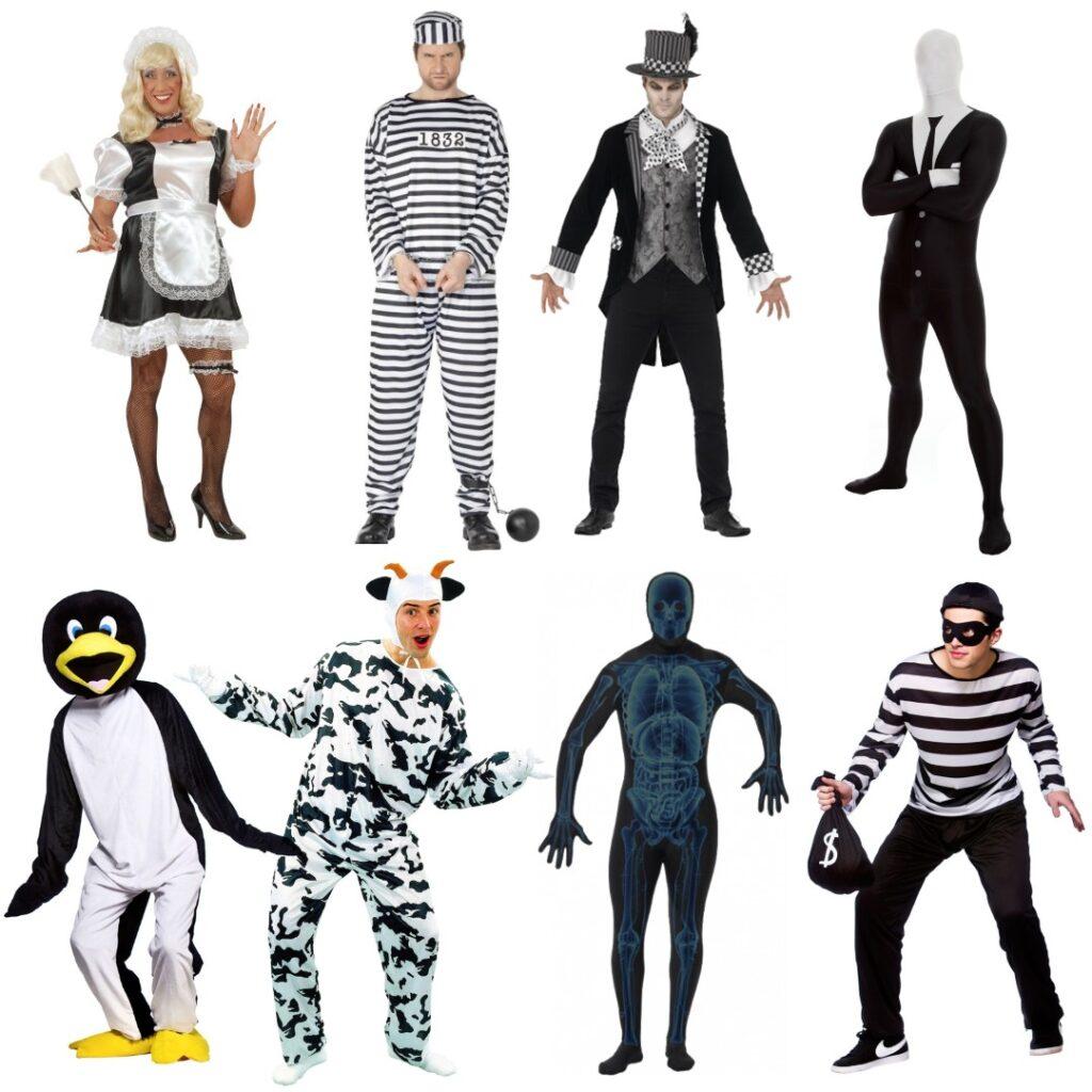 black white kostume til voksne sort kostume til mænd hvidt kostume til mænd