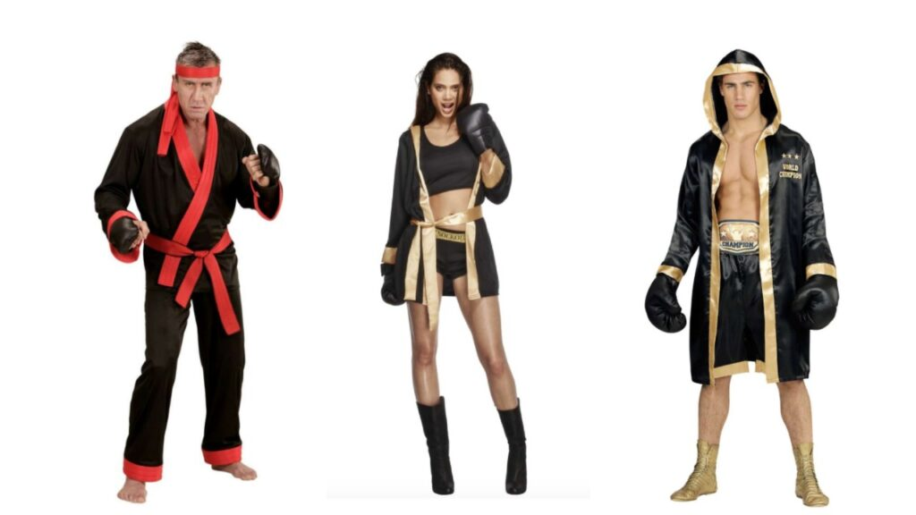 bokser kostume til voksne kickbokser kostume til voksne sportskostume kampsport kostume