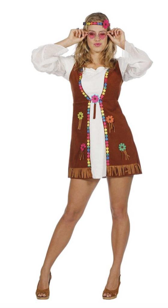 flower power hippie kostume 560x1024 - Hippie kostume til kvinder