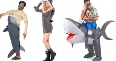 haj kostume til voksne haj udklædning 390x205 - Haj kostume til voksne
