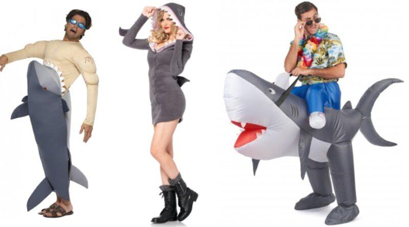 haj kostume til voksne haj udklædning 800x445 - Haj kostume til voksne