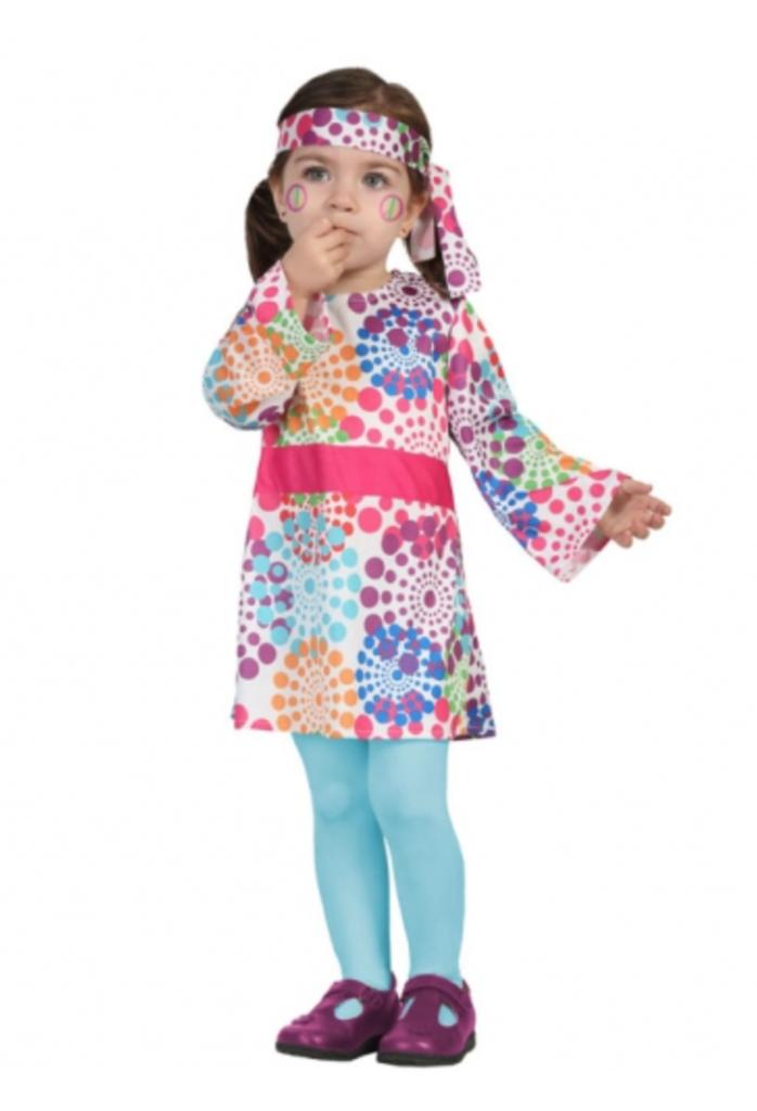 hippie baby kostume 698x1024 - Hippie kostume til børn