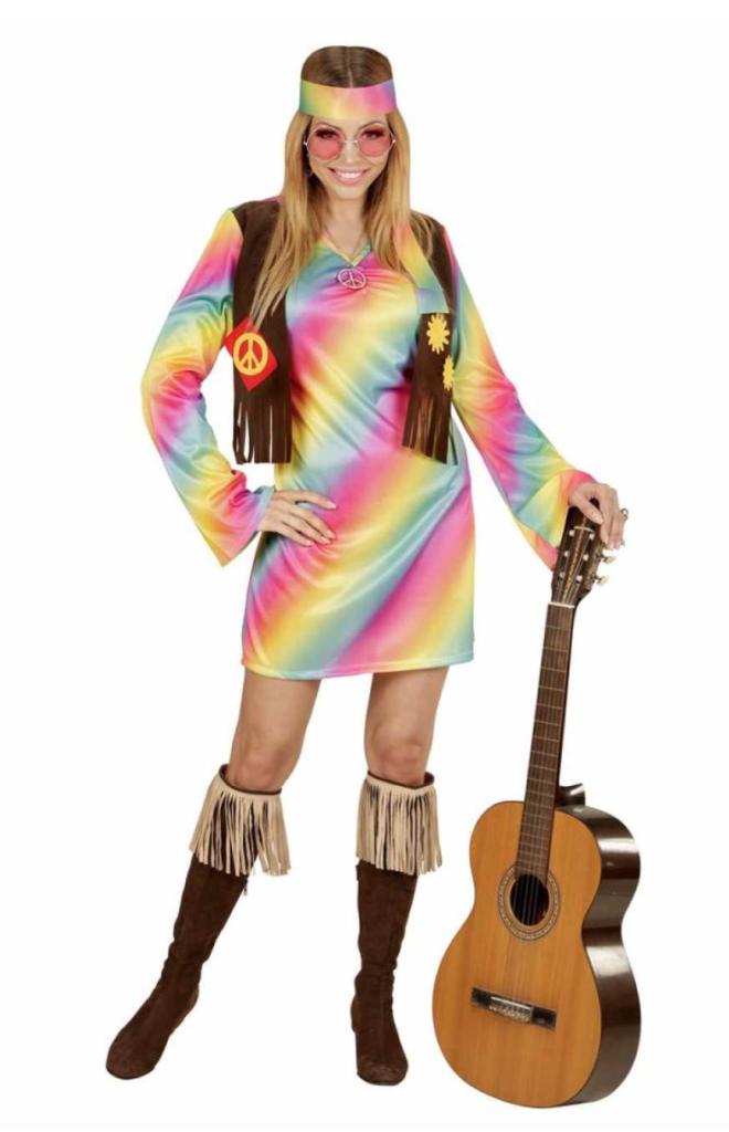 hippie kostume til voksne 660x1024 - Hippie kostume til kvinder