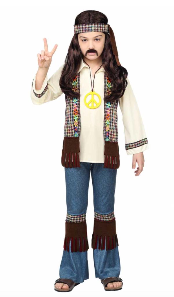hippie udklædning til børn 601x1024 - Hippie kostume til børn