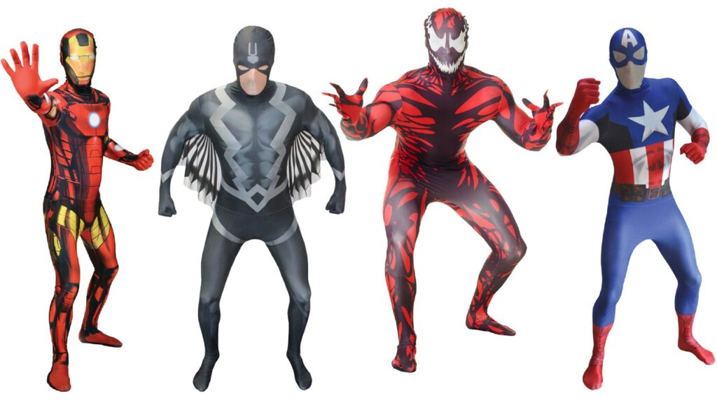 marvel morphsuit kostume til voksne