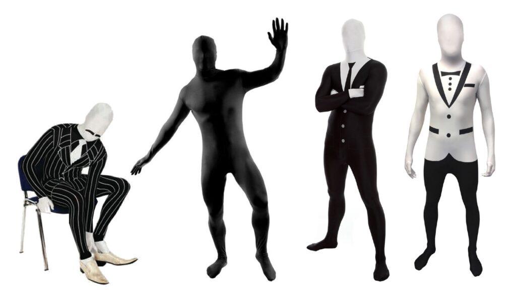 morphsuit jakkesæt morphsuit gangster morphsuit smoking morphsuit sort skinsuit jakkesæt