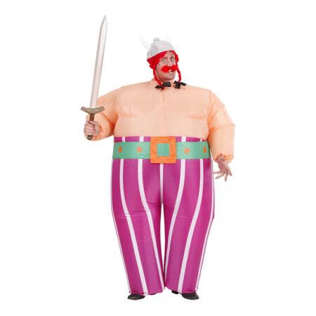obelix kostume oppustelig obelix kostume til voksne