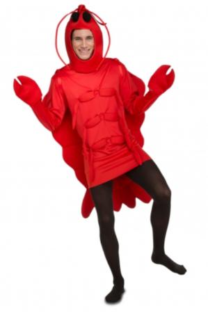 rød hummer kostume til voksne