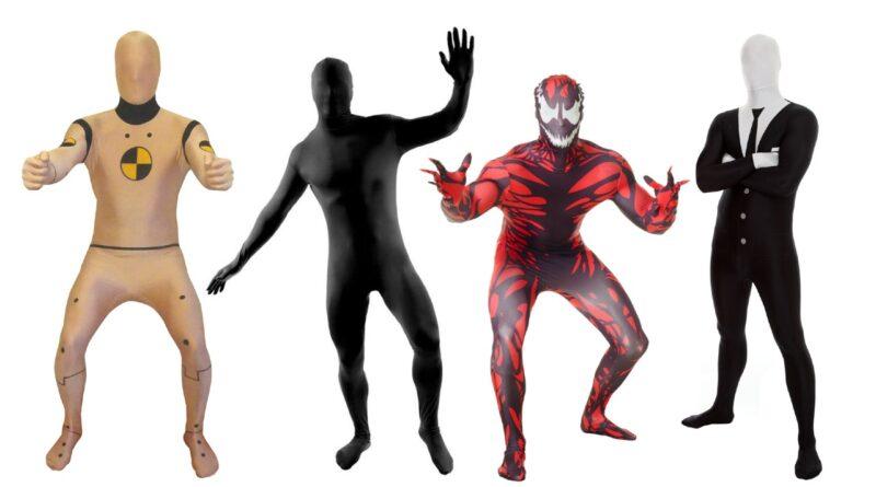 skinsuit kostume morphsuit kostume festival kostume til voksne